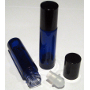 Blue Glass Rollette Bottle / Closure 10ml