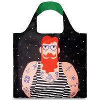 LOQI  Cool People 'Smoking Beard' Tote