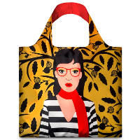 LOQI  Cool People 'Snake Lady' Tote
